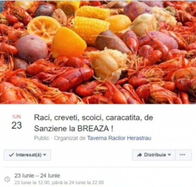 Festival al fructelor de mare, în weekend, la Breaza